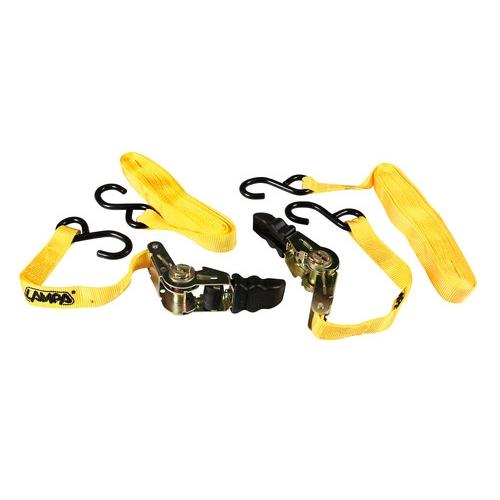 Pro-Safe set 2 nastri tensori con cricchetto 25 mm Lampa