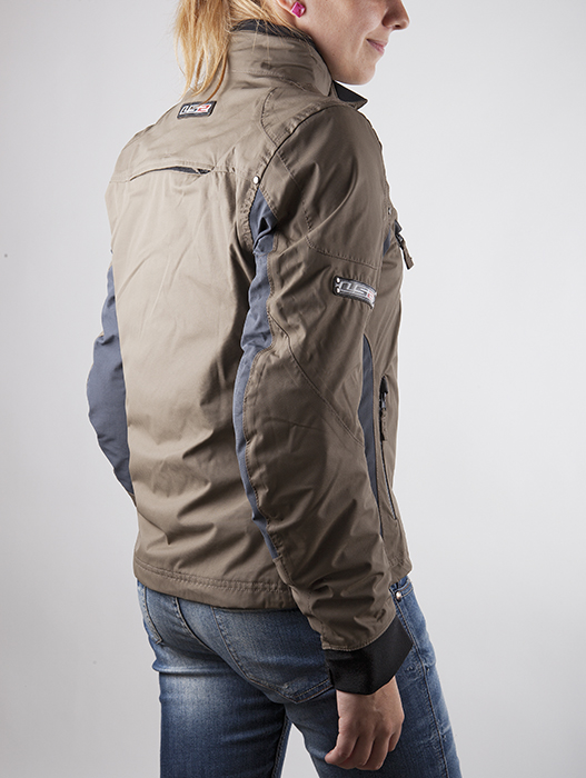 Motorcycle jacket woman LS2 Urban Brown