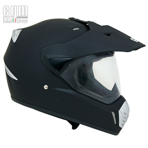 CGM Motard off road helmet Rubber Black