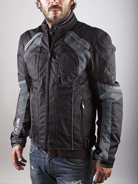 LS2 Motorcycle Jacket Titanium Black Lagoon