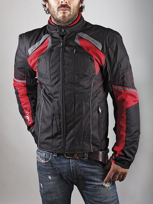 LS2 Motorcycle Jacket Red Black Lagoon