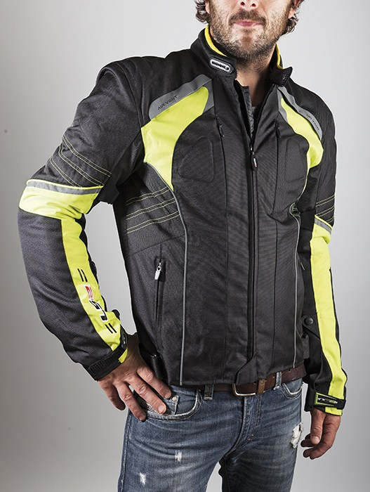 LS2 Motorcycle Jacket Yellow Black Lagoon