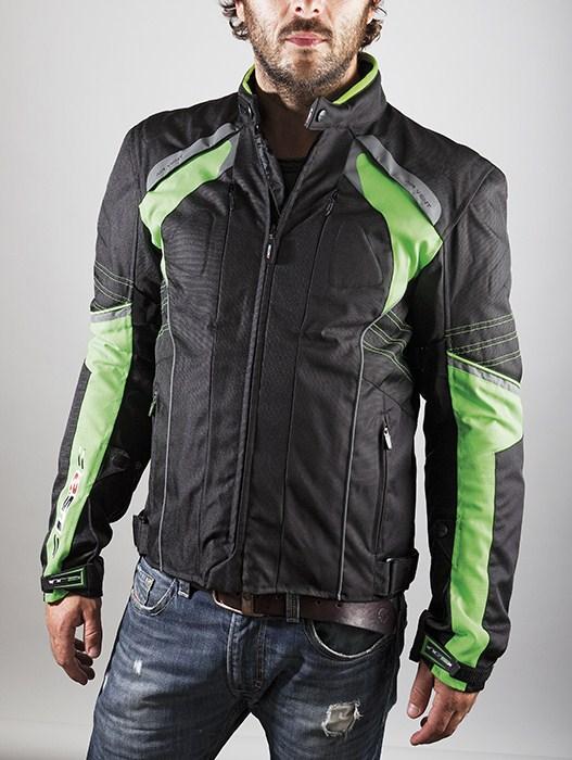 LS2 Motorcycle Jacket Green Black Lagoon