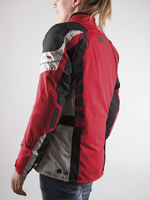 Red Baltic LS2 motorcycle jacket woman