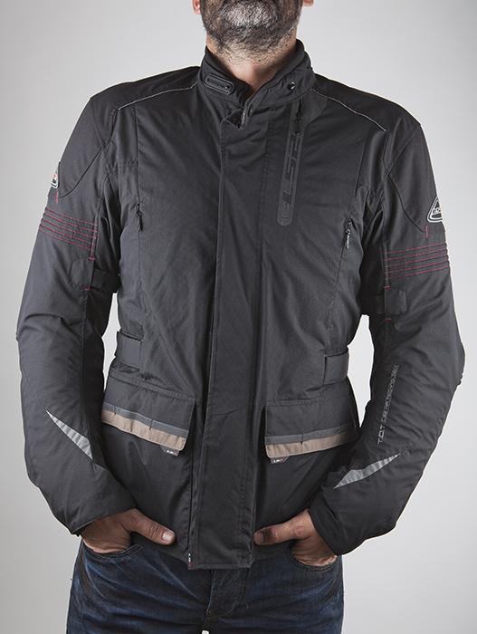 LS2 Motorcycle Jacket Black Atlantic