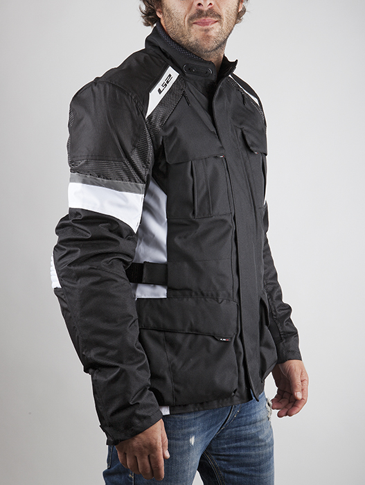 LS2 motorcycle jacket Artic White Black