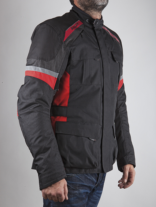LS2 motorcycle jacket Artic Black Red