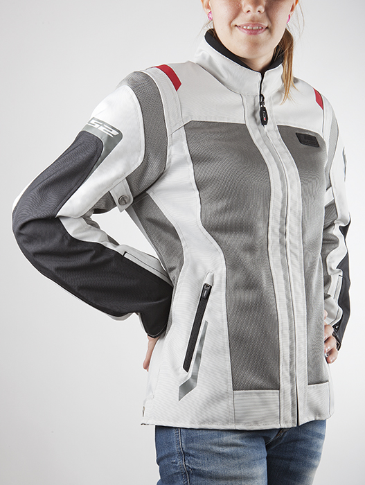 Summer Breeze woman LS2 motorcycle jacket black light gray