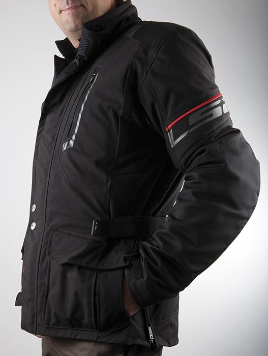 LS2 Motorcycle Jacket Black Tundra