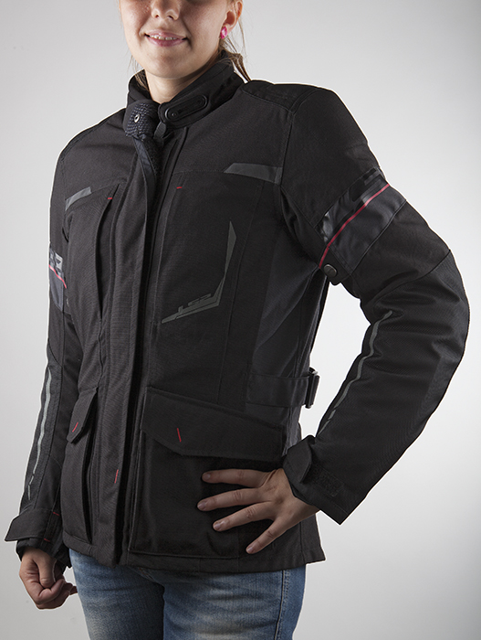 LS2 motorcycle jacket woman Tundra Black