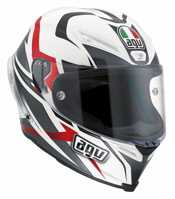 Agv Race Corsa Multi Velocity helmet white-black-red