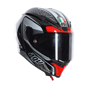 Agv Race Corsa Circuit full face helmet Black White Red
