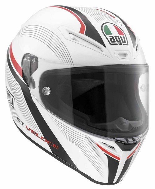 Casco moto Agv GT Veloce Multi Aspide bianco-nero-rosso