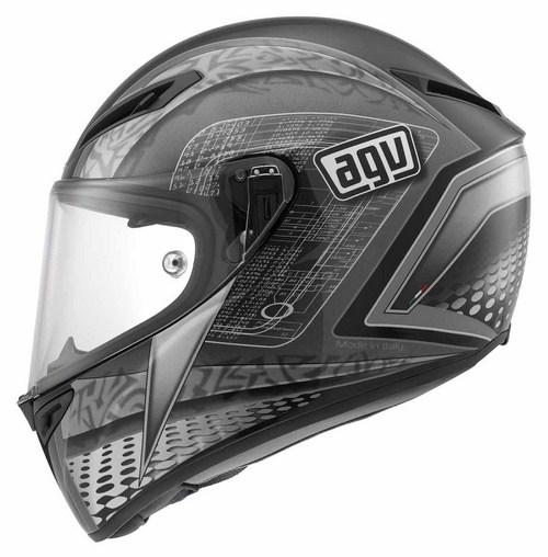 Agv GT Veloce Multi Cyborg fullface helmet black-grey