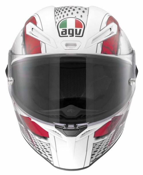 Casco moto Agv GT Veloce Multi Cyborg bianco nero rosso