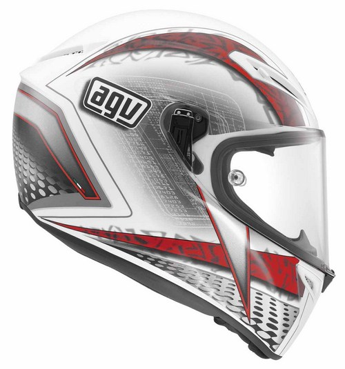 Agv GT Veloce Multi Cyborg fullface helmet white black red
