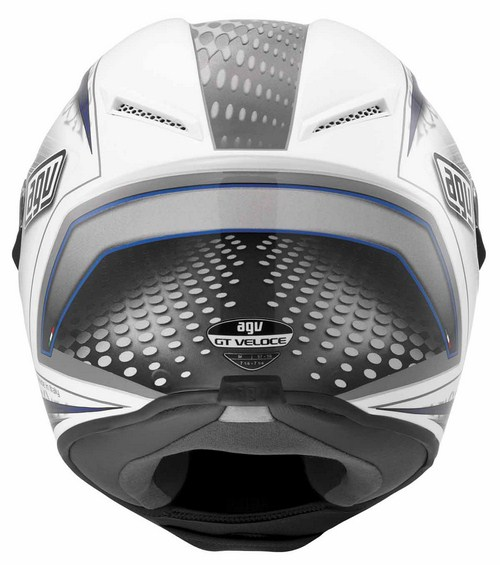 Casco moto Agv GT Veloce Multi Cyborg bianco nero blu