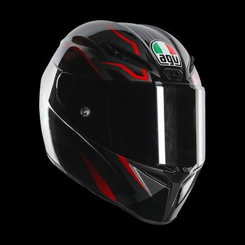 AGV GT Veloce TXT full face helmet Black Gunmetal Red