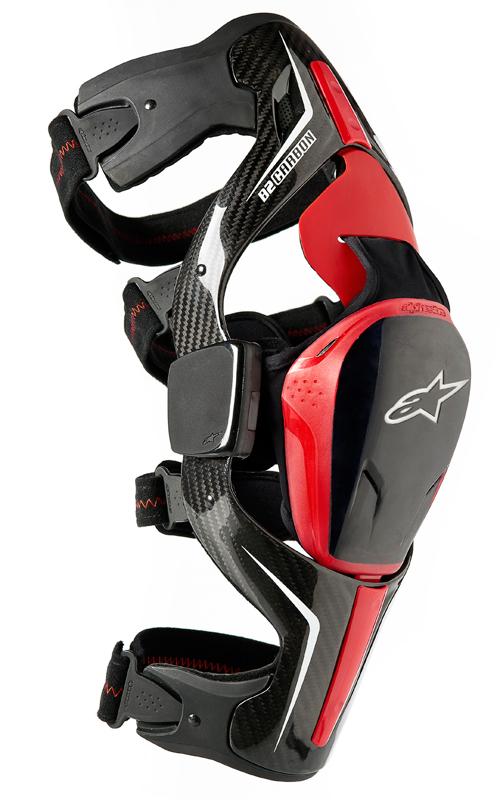 Ginocchiere moto Alpinestars Carbon B2 nera destra