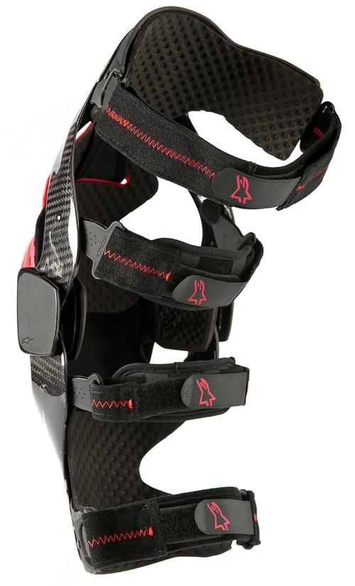 Ginocchiere moto Alpinestars Carbon B2 nera sinistra