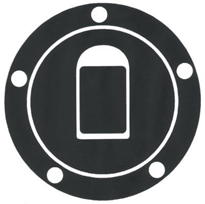 Adesivo resinato proteggi tappo serbatoio Kawasaki Progrip Carbo