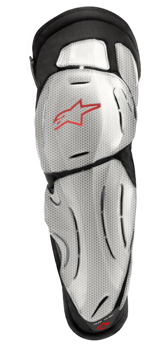 Protezioni ginocchio Alpinestars Bionic SX Titanio Rosso