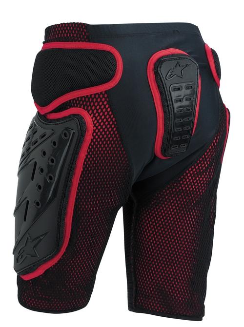 Pantaloncini protettivi Alpinestars Bionic Freeride nero-rossi