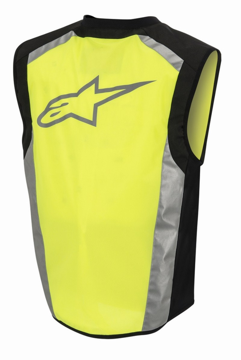 High visibility vests Alpinestars Flare Neon Yellow Black
