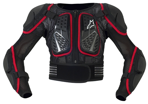 Alpinestars Youth Bionic 2 protection jacket black-red