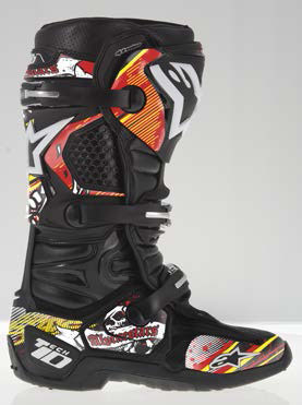 Graphic kit for Alpinestars Tech 10 Red White Yellow