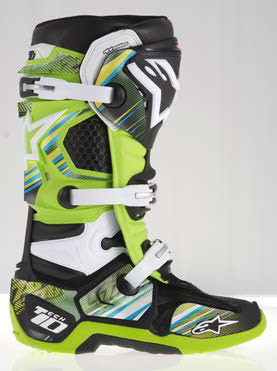 Graphic kit for Alpinestars Tech 10 Yellow Green Blue