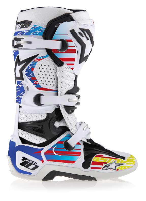 Graphic kit for Alpinestars Tech 10 Blue Red