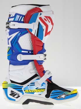 Graphic kit for Alpinestars Tech 10 Blue Yellow