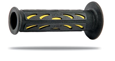 Manopole forate Progrip Racing Bicolore Nero Grigio