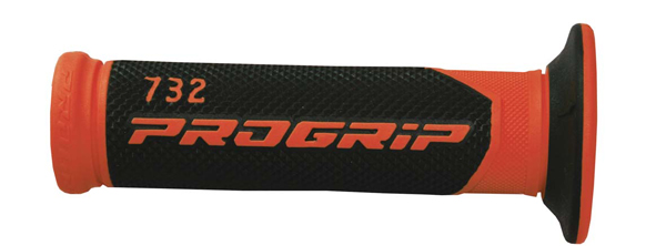 Perforated Progrip Grips Black Red Road