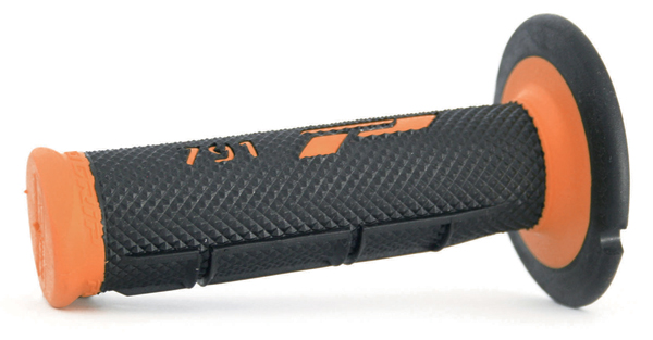 Manopole Progrip Cross Dual Density Nero Arancio