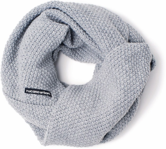 Tucano Urbano neckwarmer Sharpei 685 light grey