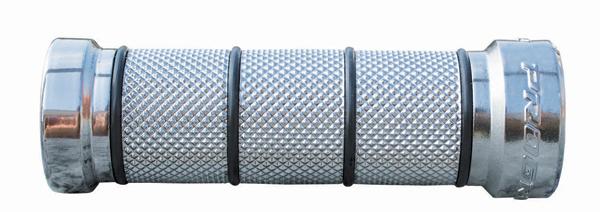 Custom Grips Progrip rubber for Harley Davidson Chrome