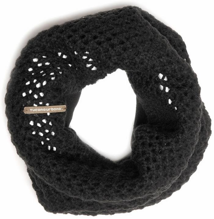 Tucano Urbano hat-neckwarmer Sharpei 695  blackwith reflex