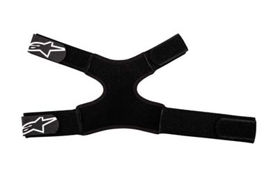 Double elastic brace for Alpinestars Black Fluid