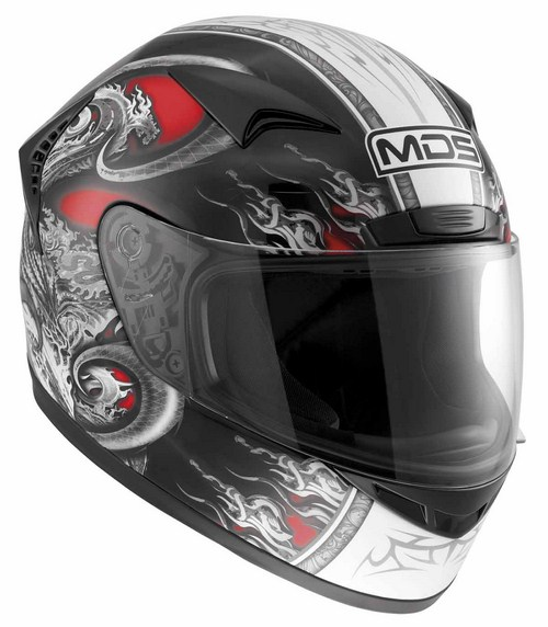 Mds by Agv New Sprinter Multi Creature fullface helmet red