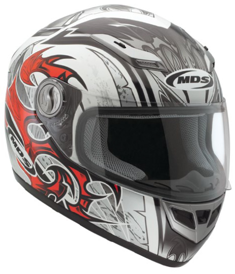 Mds by Agv Multi Sprinter Age full-face helmet white-red