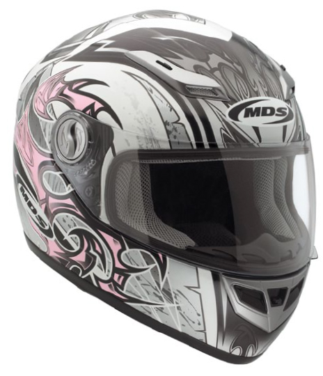 Casco moto Mds by Agv Multi Sprinter Age bianco-rosa