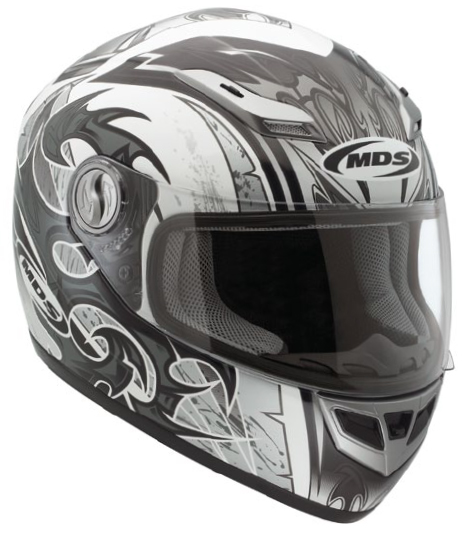 Mds by Agv Multi Sprinter Age full-face helmet white-gunmetal