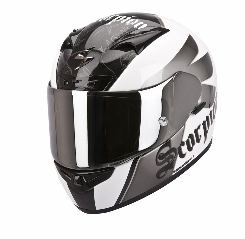 Scorpion Exo 710 Air Knight full face helmet white silver