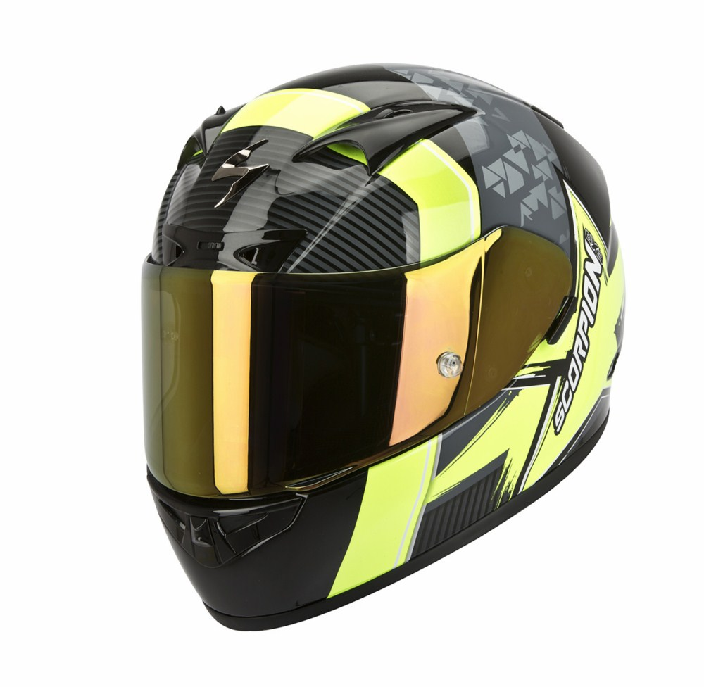 Scorpion Exo 710 Air Crystal full face helmet black yellow