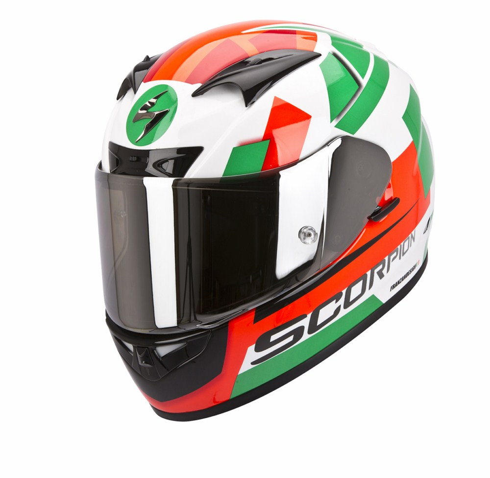 Scorpion Exo 710 Air Square full face helmet white green