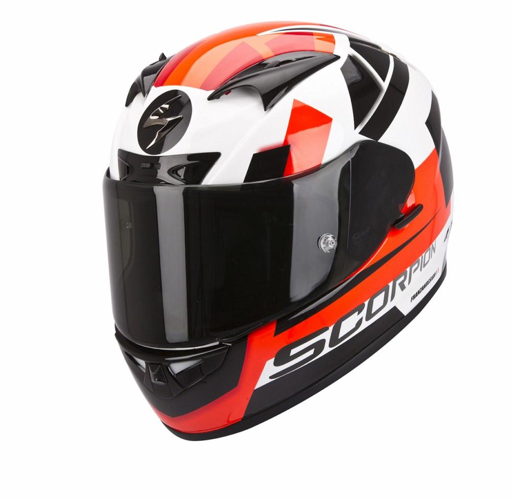 Scorpion Exo 710 Air Square full face helmet white red