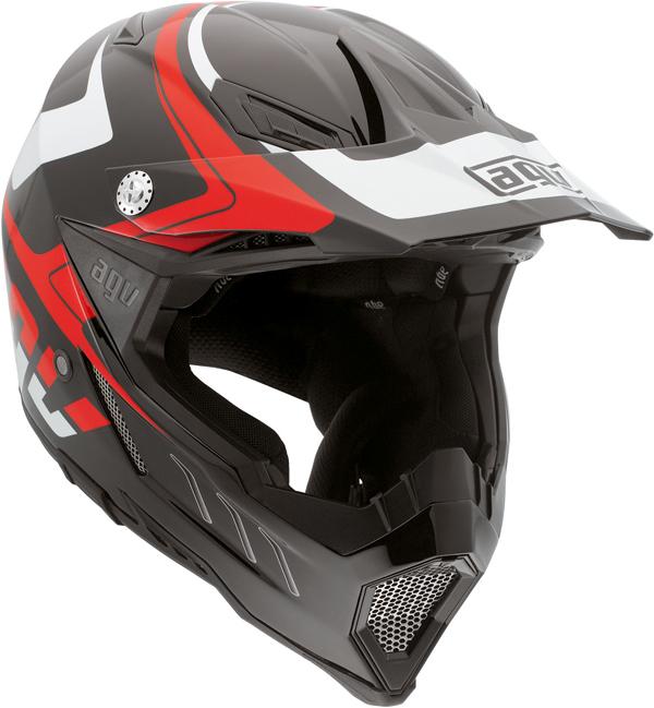 Agv AX-8 Evo Multi Klassik off-road helmet black-white-red