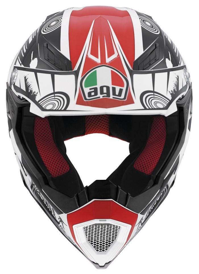 Agv AX-8 Evo Multi Cool  offroad helmet white black red